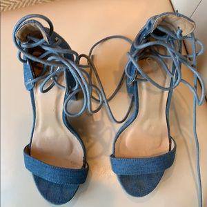 Windsor Denim sandal lace up